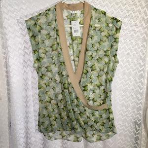 CAbi Butterfly Wraparound Shirt.